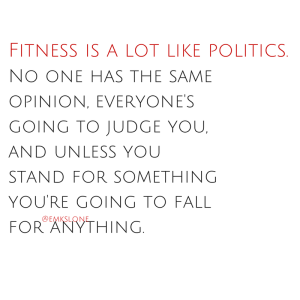 fitness is like politics