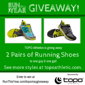 Topo Athletic Giveaway
