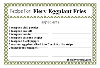 Fiery Eggplant Fries Paleo
