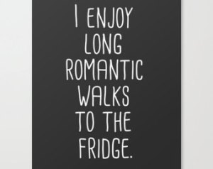 walks to the fridge
