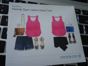 Fun2Fun Kassidy Open Lattice Detail Tank
